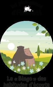 Deux ours blottis l'un contre l'autre dans un paysage