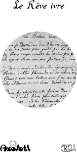 couverture montrant un manuscrit du Bateau ivre de Rimbaud