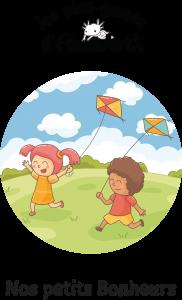 Couverture représentant deux enfants qui courent dans un pré avec des cerfs-volants