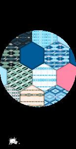 couverture représentant des hexagones avec différents motifs