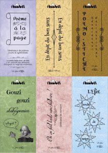 Visuel des six marque-pages couleur